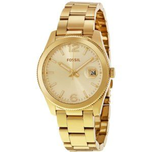Fossil Champagne Dial Gold Tone Watch